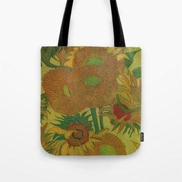 Van Gogh, sunflowers 2 – Van Gogh,Vincent Van Gogh,impressionist,post-impressionism,brushwork,paint Tote Bag