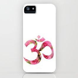 Aum Rose Harmony Om iPhone Case