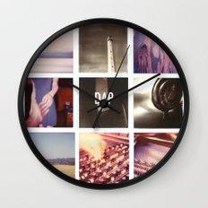 resonances collage Wall Clock