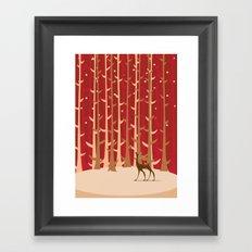 Christmas Reindeer. 1 Framed Art Print