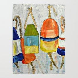 Lobster Buoys Poster