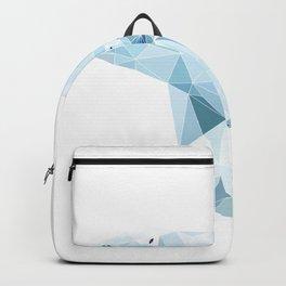 polygonal polar bear Backpack