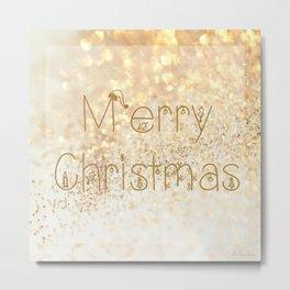 Christmas, rose gold glitter - Macro Photography #Society6 Metal Print
