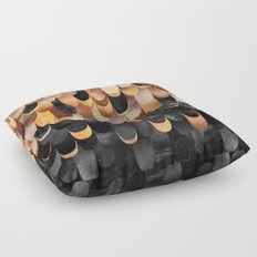 Feathered - Copper And Black Floor Pillow