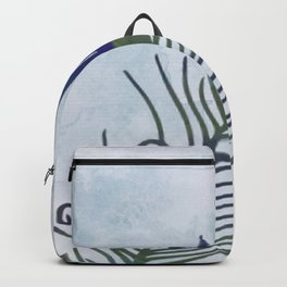 Watercolor Peacock Feather Backpack