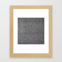 Cement from your Jordan sneakers;) Framed Art Print
