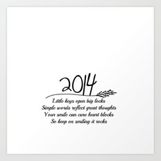 2014 A New Year Quote  Art Print