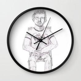 Robert Fripp (King Crimson) wiggles shirt Wall Clock