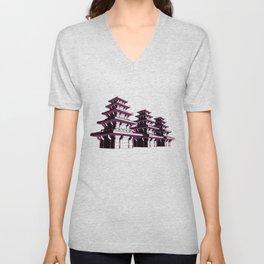Pagoda Unisex V-Neck