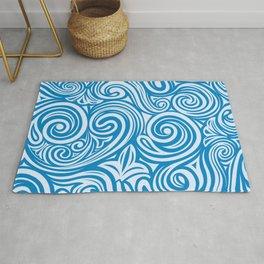 Blue Liquid Swirls Rug
