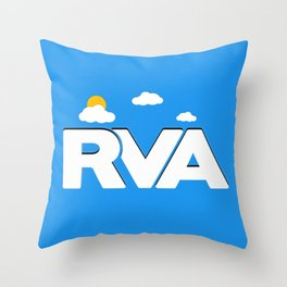 Rva Logo | ' Game Style ' Throw Pillow