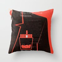 mad men Throw Pillows featuring Mad Men Poster Print by Take Heed