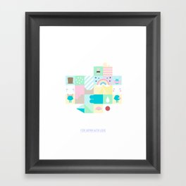 For Japan with love 3 Framed Art Print