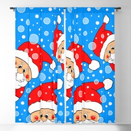 Peek A Boo Santa Blackout Curtain