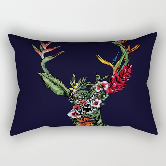 Tropical Deer Rectangular Pillow
