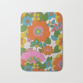 RETRO FLOWERS Bath Mat