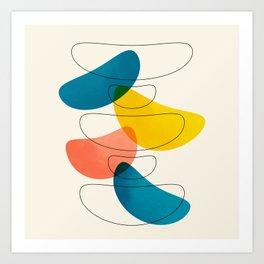 Colorful Bones Art Print