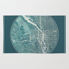 Portland Map Planet Rug