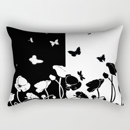POPPIES AND BUTTERFLIES Rectangular Pillow
