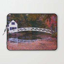 Fallin at Sommesville Bridge Laptop Sleeve