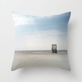 Beach Cabin Throw Pillow