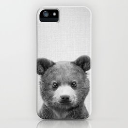 Baby Bear - Black & White iPhone Case