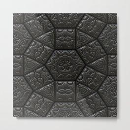Tile emboss luxury artwork depth Metal Print