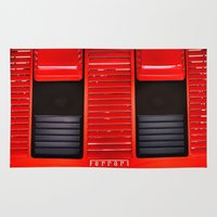 ferrari Area & Throw Rugs featuring Ferrari hood by LeicaCologne Germany