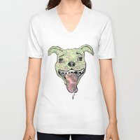 the hound V-neck T-shirts featuring City Hound by Neojunkie