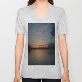 Fox Island Sunset Unisex V-Neck