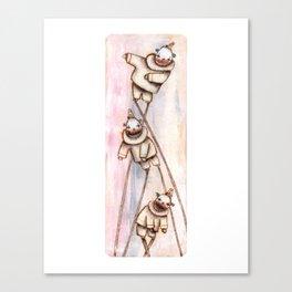 Clowns on Stilts Canvas Print