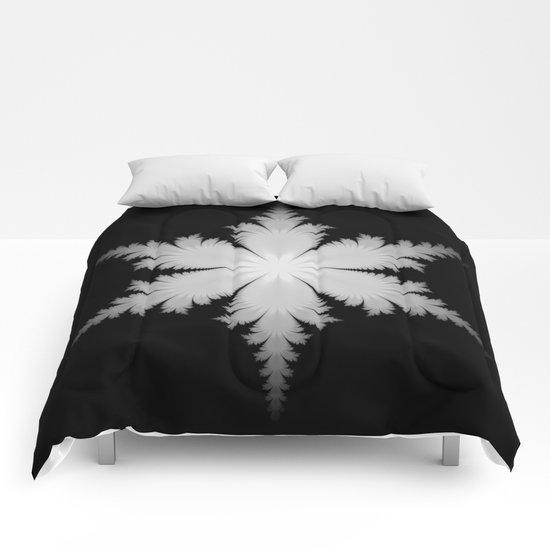 Fractal Snowflake Comforters