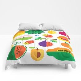 Fruit Medley White Comforters