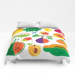 Fruit Medley White Comforters