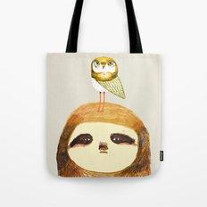 Sloth and Owl. Tote Bag