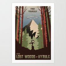 Legend of Zelda- Find Yourself in the Lost Woods Art Print