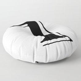 One black Floor Pillow