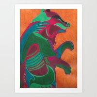 Abstracted Bear Art Print