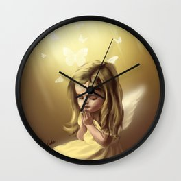 Angel Praying Wall Clock