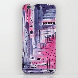 Purple colored rain iPhone Skin