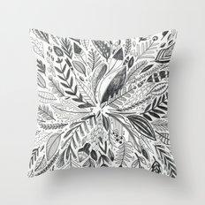 Botanic Pattern Throw Pillow