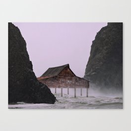 Stormy Weather on the Coast Canvas Print