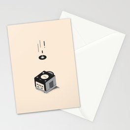 ElectroVideo GameCube (black) Stationery Cards