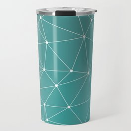 Triangulated Marrs Green Dotted Pattern Travel Mug