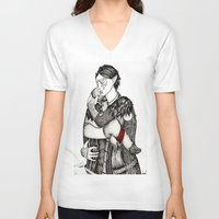 best friends V-neck T-shirts featuring Best friends by Anca Chelaru