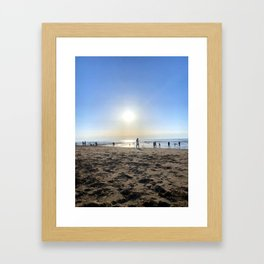 Silence in French Riviera Framed Art Print