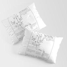 La Pavoni Patent Drawing Poster (Very Old & Rare) Pillow Sham