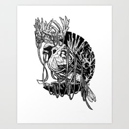 Rudolph Sparrow Art Print