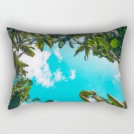 Rainforest Canopy - Tropical Blue Sky Rectangular Pillow