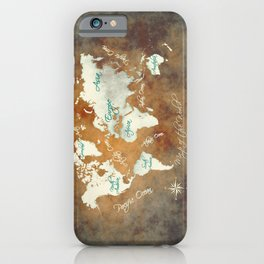 world map 2020 brown #world #map iPhone Case